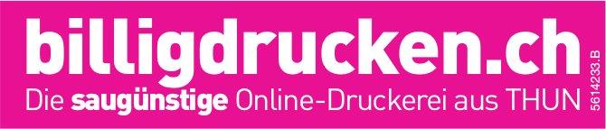 billigdrucken.ch - Die saugünstige Online-Druckerei aus THUN