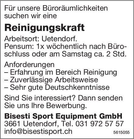 Reinigungskraft bei Bisesti Sport Equipment GmbH gesucht