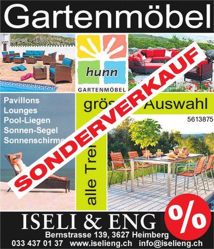 ISELI & ENG - Gartenmöbel Sonderverkauf