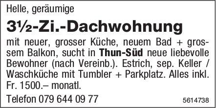3½-Zi.-Dachwohnung in Thun-Süd zu vermieten