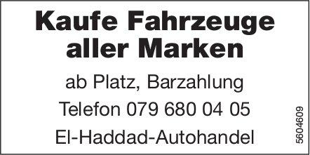 Kaufe Fahrzeuge aller Marken ab Platz