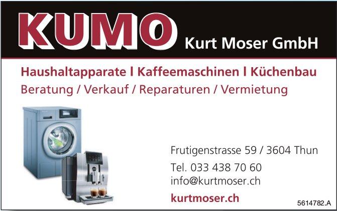 KUMO Kurt Moser GmbH - Haushaltapparate, Kaffeemaschinen, Küchenbau