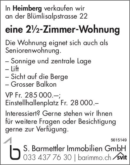 Eine 2½-Zimmer-Wohnung an der Blümlisalpstrasse 22 in Heimberg zu verkaufen