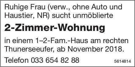 2-Zimmer-Wohnung in einem 1–2-Fam.-Haus am rechten Thunerseeufer, ab November 2018 gesucht