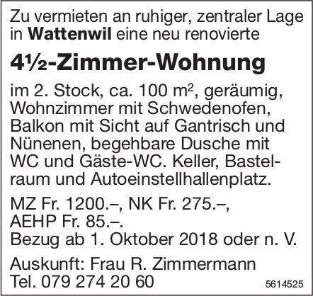 4½-Zimmer-Wohnung in Wattenwil zu vermieten