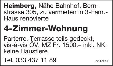 4-Zimmer-Wohnung in Heimberg zu vermieten