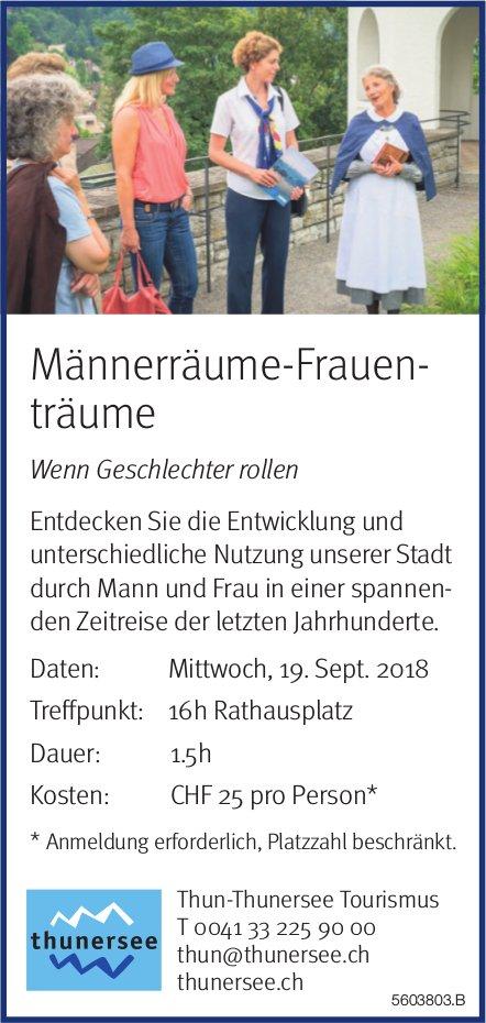 Thun-Thunersee Tourismus - Männerräume-Frauenträume am 19. September