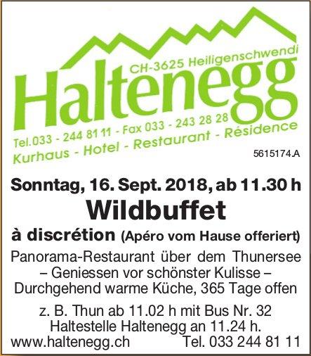 Haltenegg - Wildbuffet à discrétion (Apéro vom Hause offeriert) am 16. September
