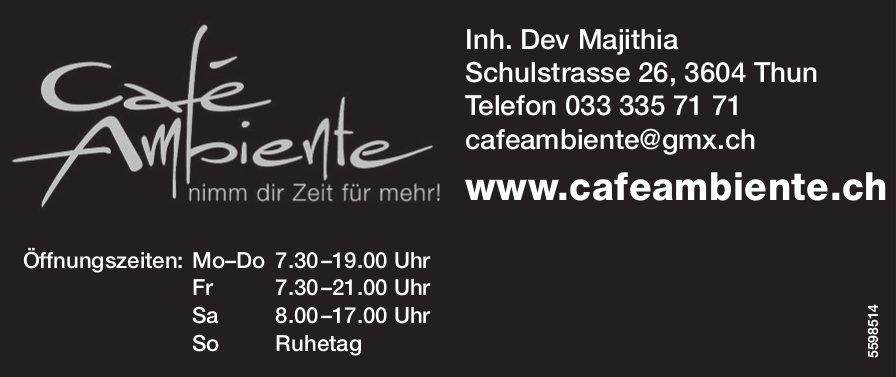 Café Ambiente - Nimm dir Zeit für mehr!