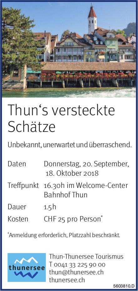 Thun-Thunersee Tourismus - Thun's versteckte Schätze
