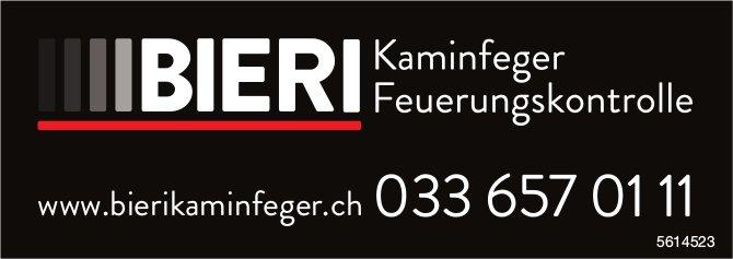 BIERI  - Kaminfeger, Feuerungskontrolle
