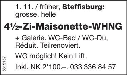 4½-Zi-Maisonette-WHNG in Steffisburg zu vermieten