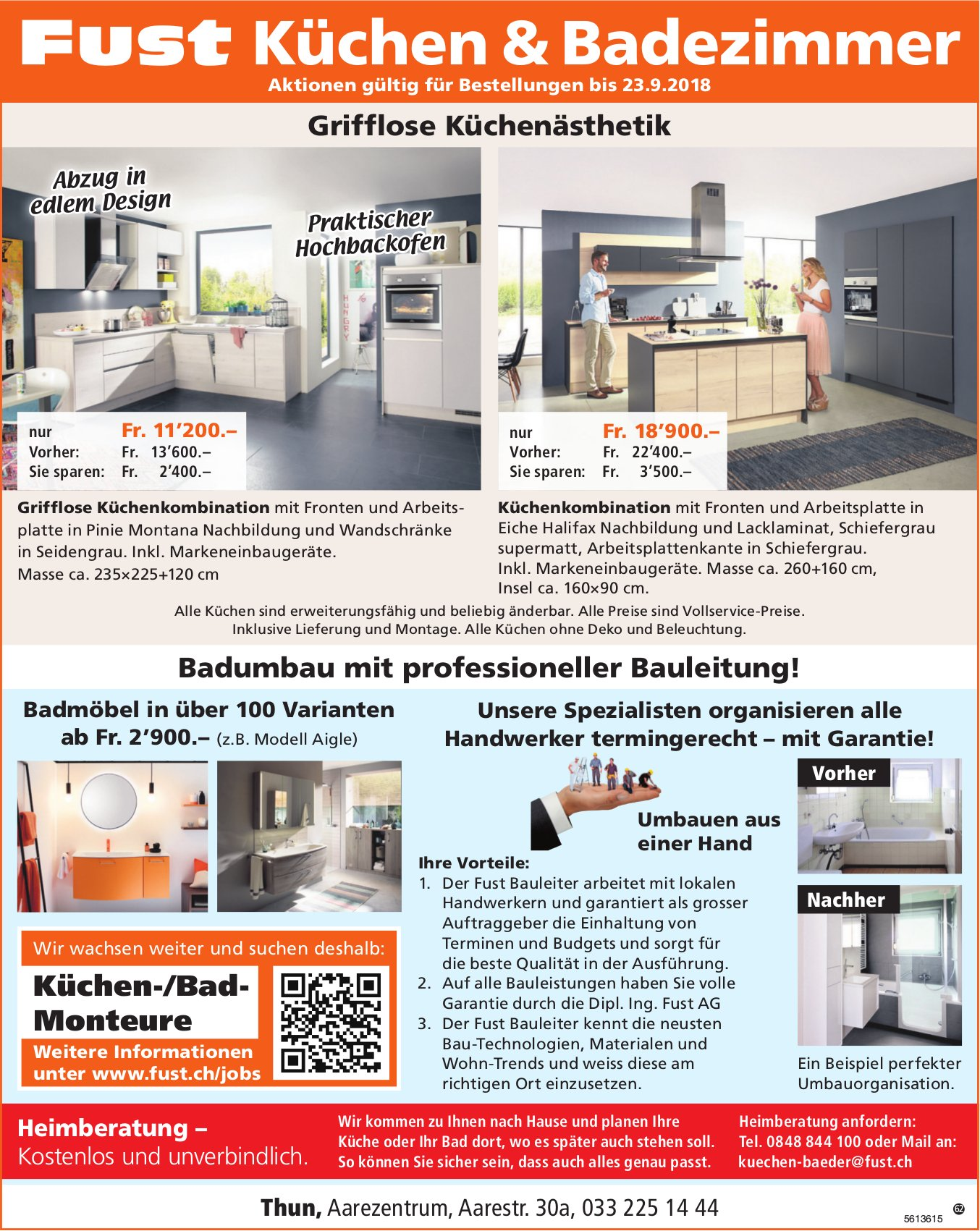 Fust Küchen & Badezimmer, Thun