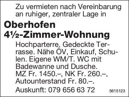 4½-Zimmer-Wohnung in Oberhofen zu vermieten