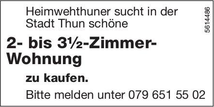 2- bis 3½-Zimmer- Wohnung in der Stadt Thun zu kaufen gesucht