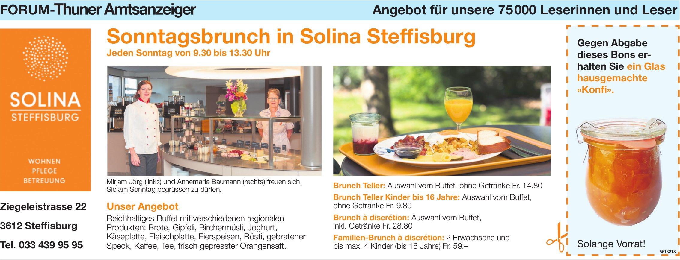 Forum-Thuner Amtsanzeiger - Sonntagsbrunch in Solina Steffisburg