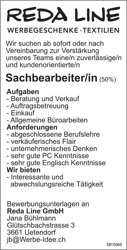 Sachbearbeiter/in (50%) bei Reda LinéGmbH gesucht