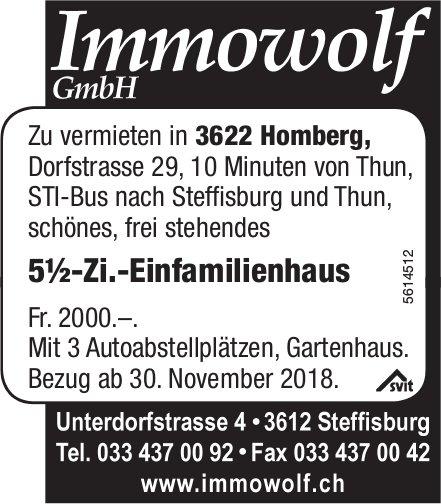 5½-Zi.-Einfamilienhaus an der Dorfstrasse 29 in Homberg zu vermieten