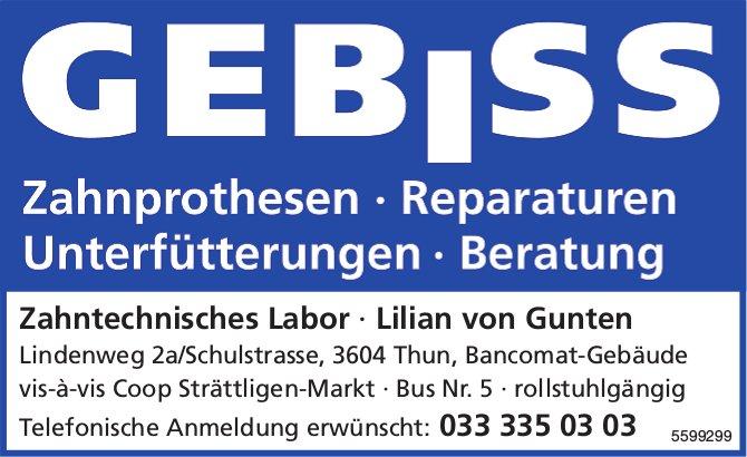 Zahntechnisches Labor, Lilian von Gunten, Thun - Zahnprothesen, Reparaturen etc.