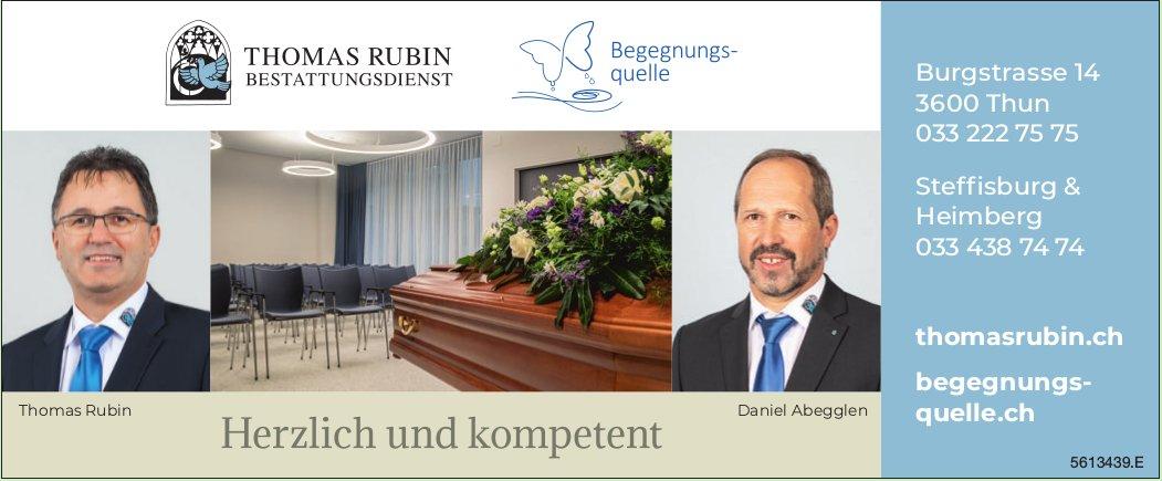 THOMAS RUBIN, BESTATTUNGSDIENST, Thun, Steffisburg & Heimberg