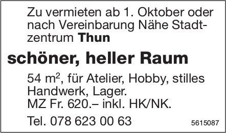 Schöner, heller Raum Nähe Stadtzentrum Thun zu vermieten