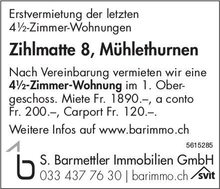 4.5-Zimmer-Wohnung in Mühlethurnen zu vermieten