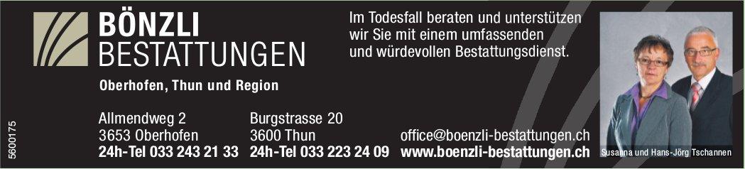 BÖNZLI BESTATTUNGEN, Oberhofen, Thun und Region