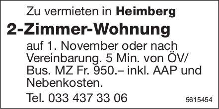 2-Zimmer-Wohnung in Heimberg zu vermieten