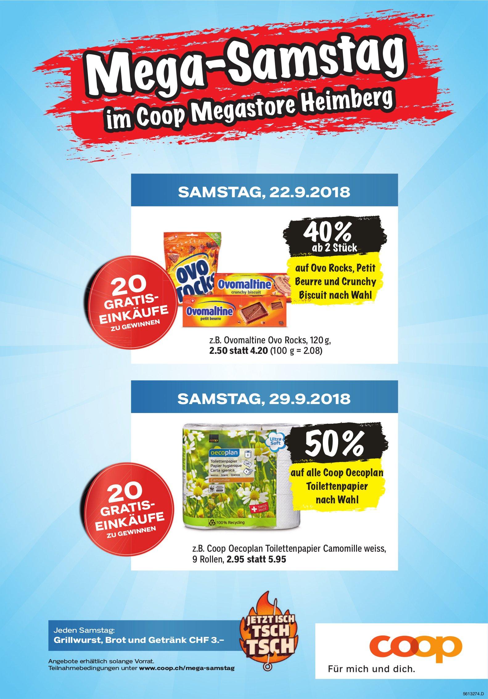 Mega-Samstag im Coop Megastore Heimberg