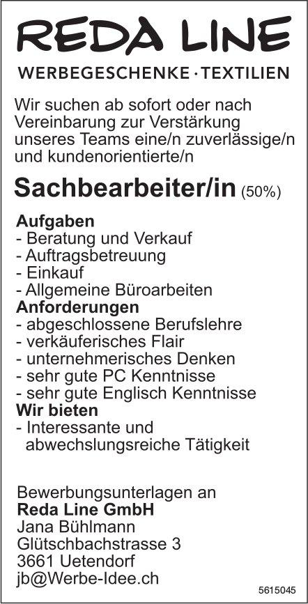 Sachbearbeiter/in (50%), Reda Line GmbH, Uetendorf, gesucht