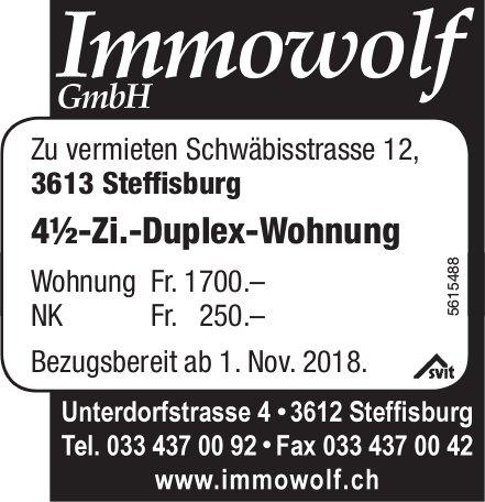 4½-Zi.-Duplex-Wohnung in Steffisburg zu vermieten