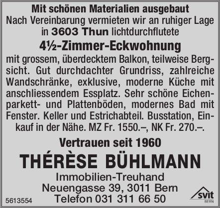 4½-Zimmer-Eckwohnung in Thun zu vermieten