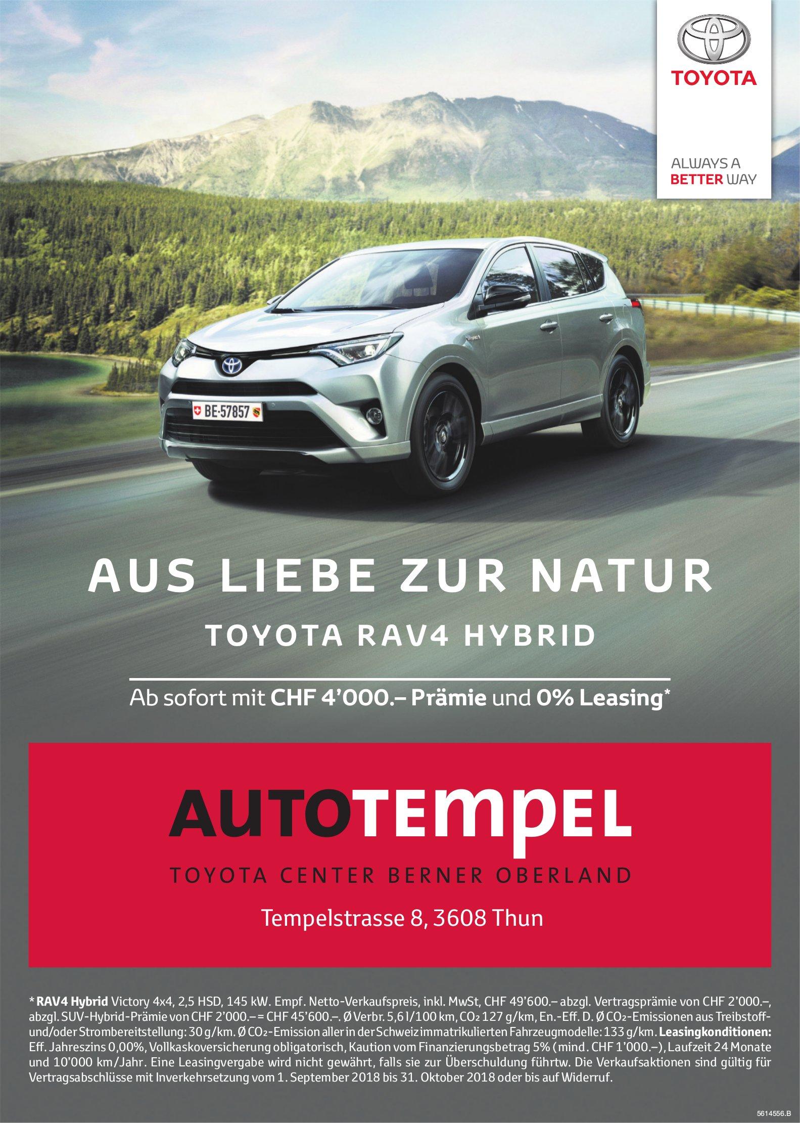 AUTOTEMPEL, Thun - TOYOTA RAV4 HYBRID