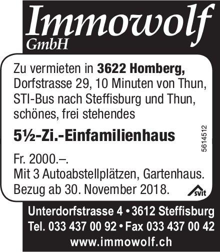 5½-Zi.-Einfamilienhaus in Homberg zu vermieten
