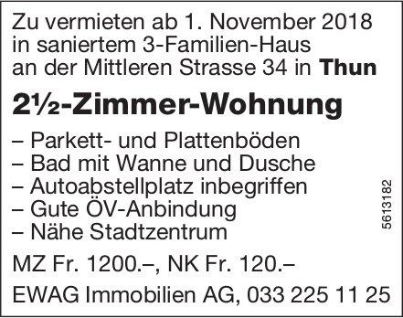2½-Zimmer-Wohnung in Thun zu vermieten