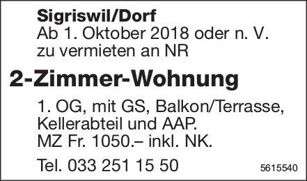 2-Zimmer-Wohnung in Sigriswil/Dorf zu vermieten