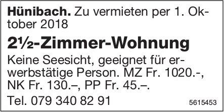 2½-Zimmer-Wohnung in Hünibach zu vermieten