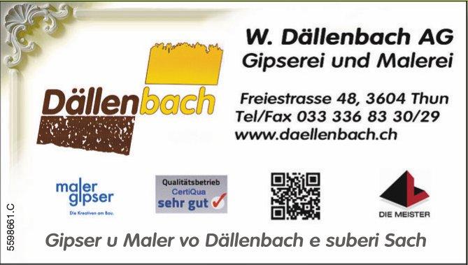 W. Dällenbach AG, Gipserei und Malerei