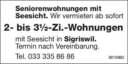 2- bis 3½-Zi.-Seniorenwohnungen mit Seesicht in Sigriswil zu vermieten