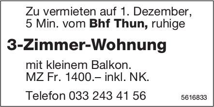 3-Zimmer-Wohnung 5 Min. vom Bhf Thun zu vermieten