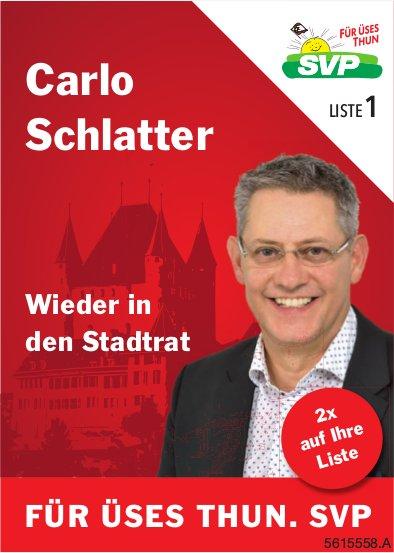 Carlo Schlatter wieder in den Stadtrat