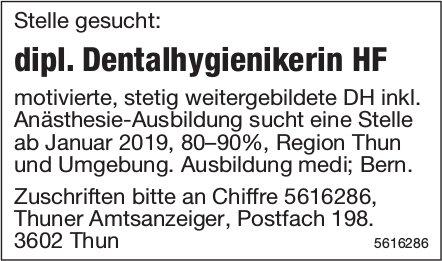Stelle gesucht: dipl. Dentalhygienikerin HF