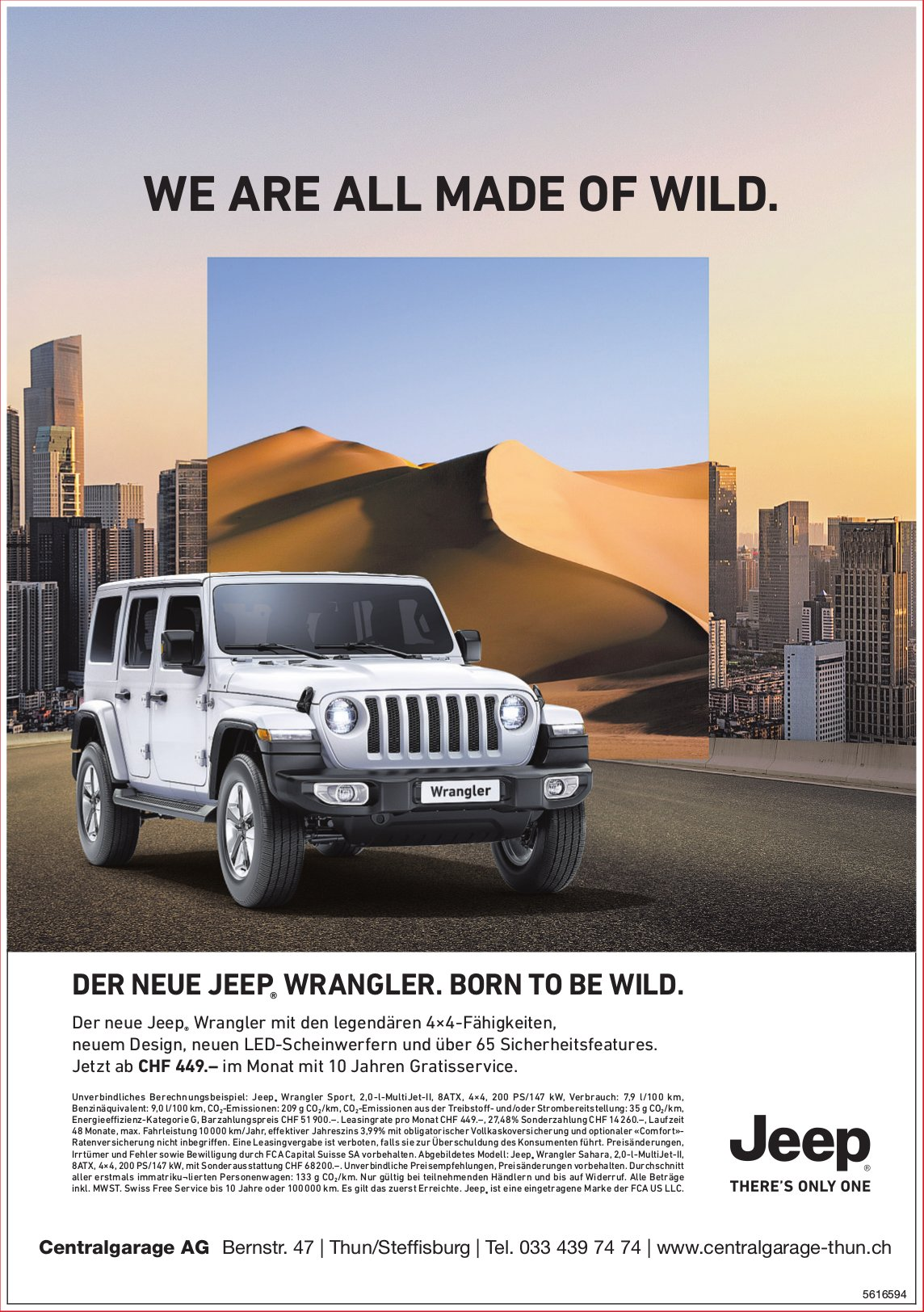 Centralgarage AG - DER NEUE JEEP WRANGLER. BORN TO BE WILD.