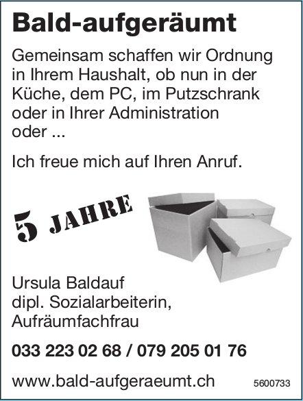 Ursula Baldauf - Bald-aufgeräumt