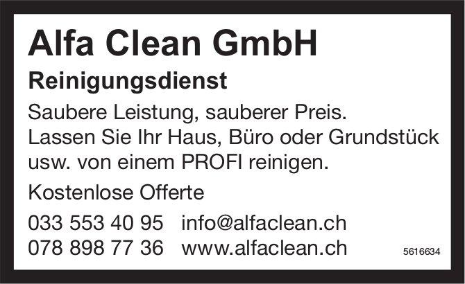 Alfa Clean GmbH, Reinigungsdienst