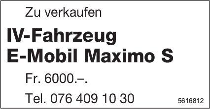 IV-Fahrzeug E-Mobil Maximo S zu verkaufen