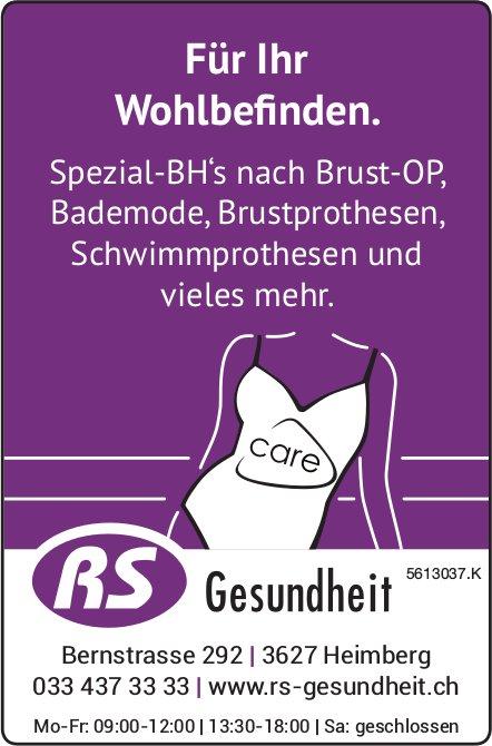 RS Gesundheit - Für Ihr Wohlbefinden.