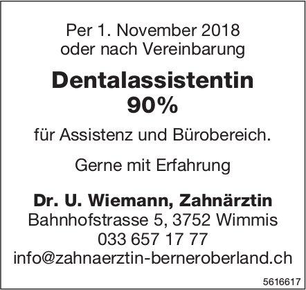 Dentalassistentin 90% bei Dr. U. Wiemann, Zahnärztin gesucht