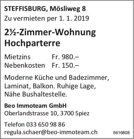 2½-Zimmer-Wohnung Hochparterre in Steffisburg