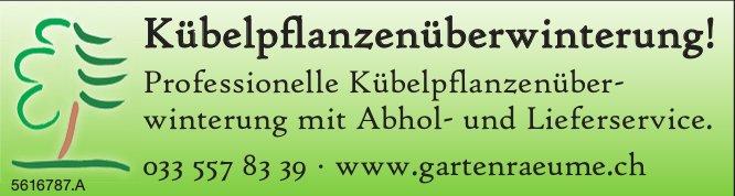 Kübelpflanzenüberwinterung, Gartenräume